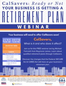 Cal Savers and CARES Act - Webinar