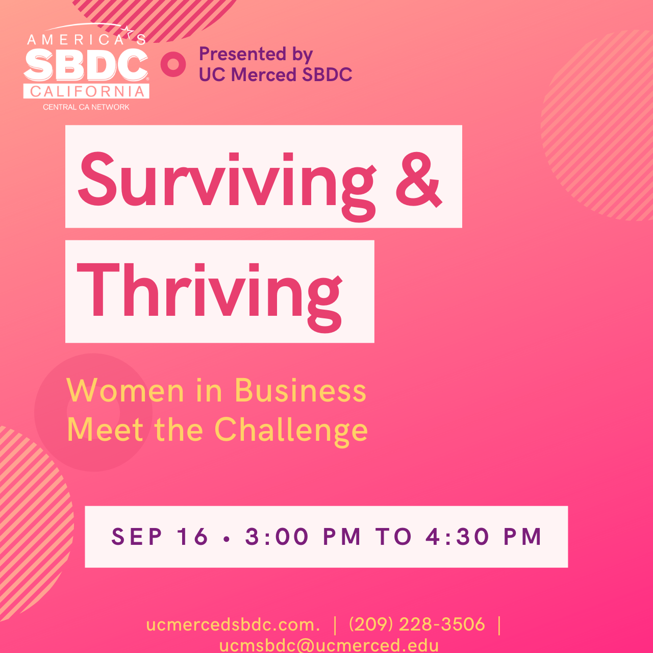 SBDC - Surviving and Thriving