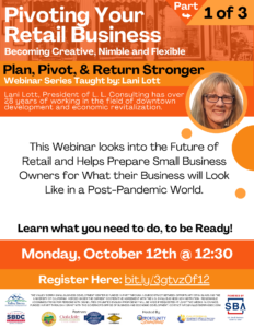 SBDC Webinar: Pivoting Your Retail Business
