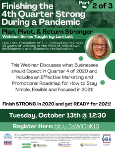 Webinar: Finishing the 4th Quarter Strong During a Pandemic