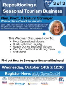 Webinar: Repositioning a seasonal tourism business