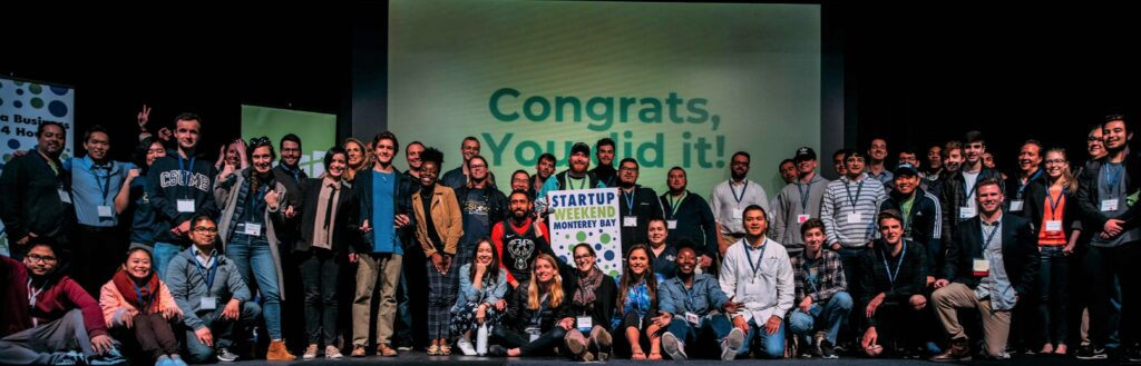 Startup Weekend Participants on Stage