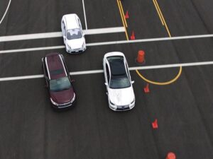 Toyota Research Institute leases space at the Marina Airport to test self-driving cars.