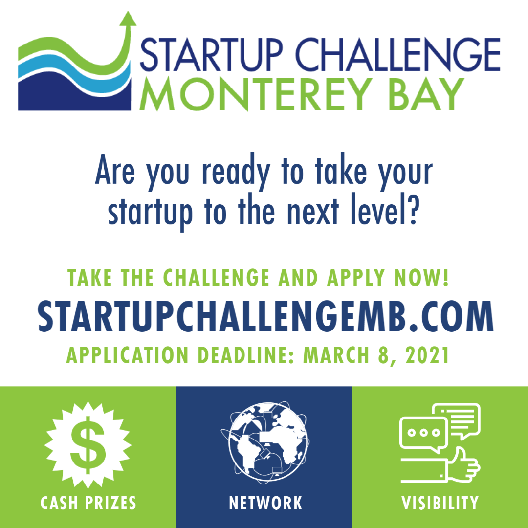 The 2021 Startup Challenge Monterey Bay application is open for businesses
